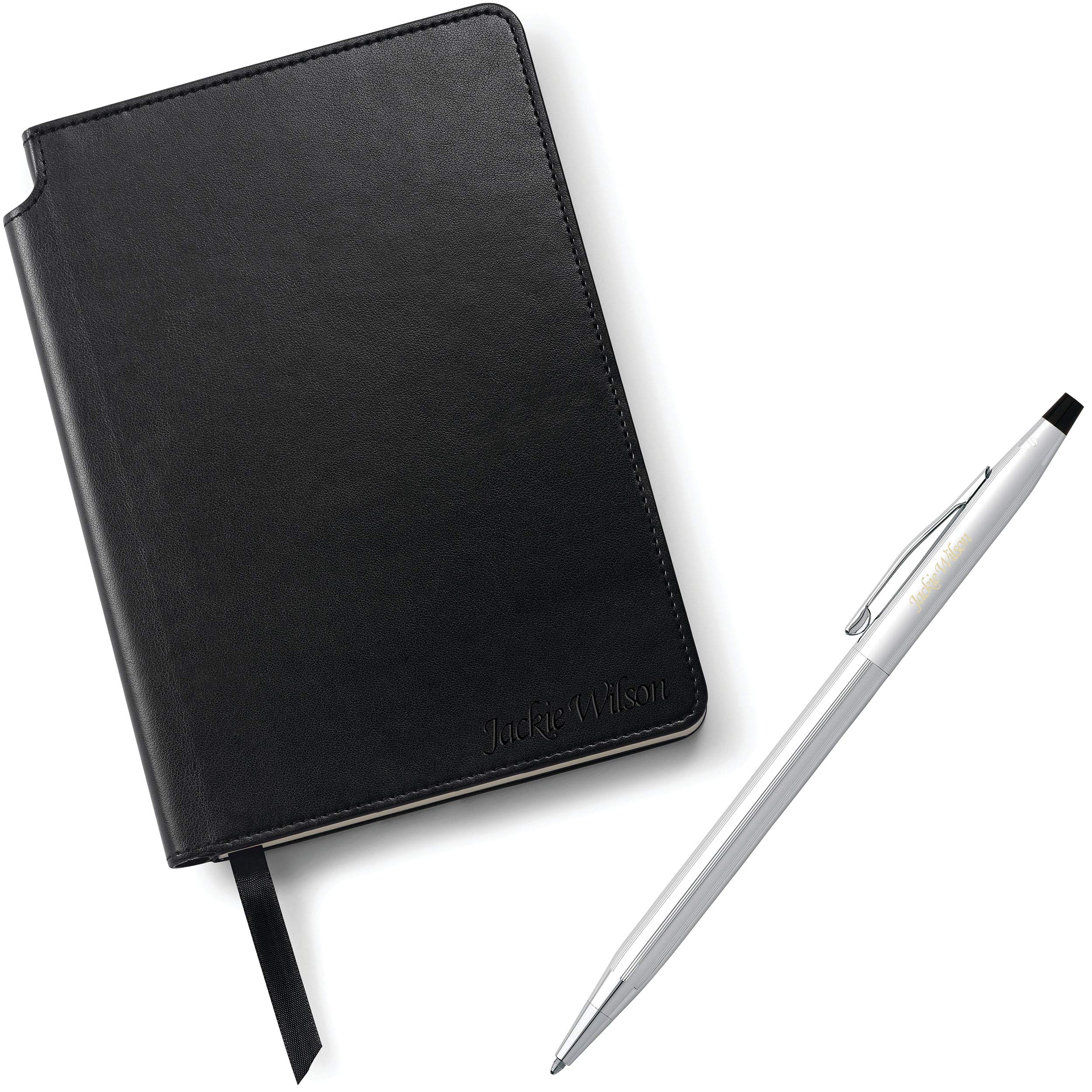 Dayspring Pens | AT Cross Personalized Pen and Journal Gift Set - Classic Century Ballpoint with a Black Journal - Engraved. Comes in gift box. by Dayspring Pens (Image #2)