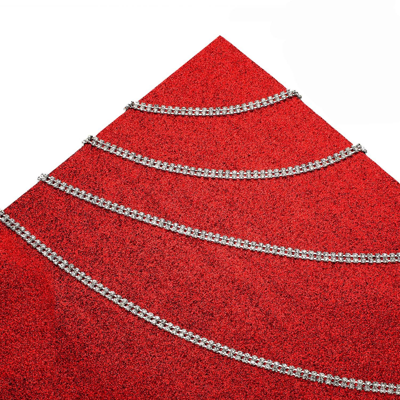 10 Yard 2 Row Crystal Rhinestone Close Chain Trimming Claw Chain Crystal Decoration Bead Chain for DIY Crafts,6 mm