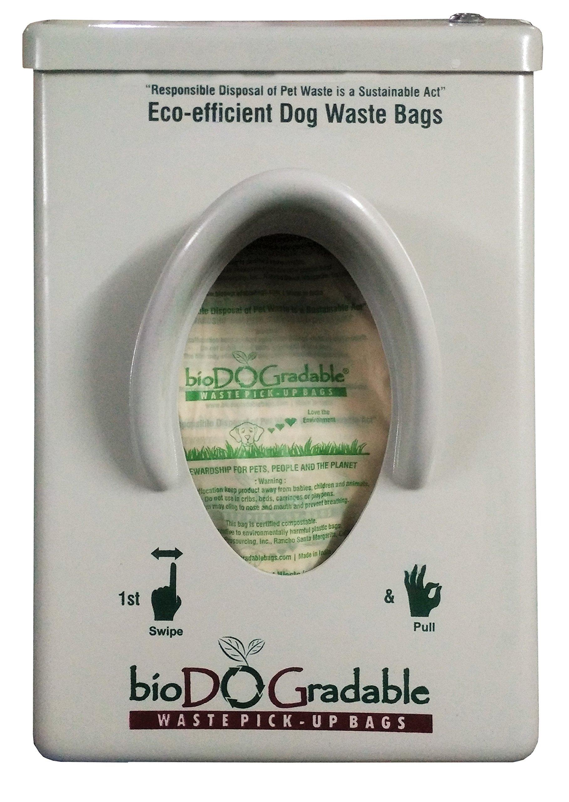 bioDOGradable Single Pull Bag Dispenser w/100 Dog Poop Bags