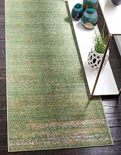 Unique Loom Austin Collection Area Rug, 2 7 x 10 , Green