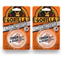 "2-Pack Gorilla 1"" x 60"" Double-Sided Mounting Clear Tape"