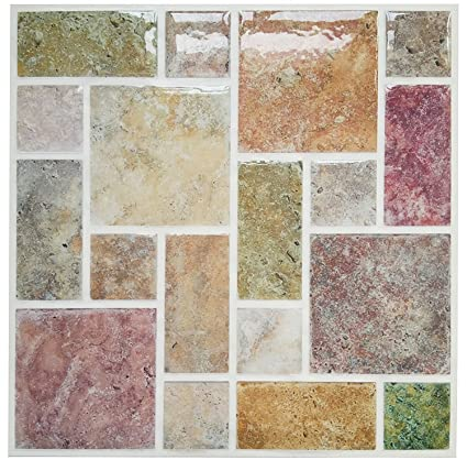 tilesticker Peel & Stick Kitchen/Bathroom Backsplash Vinyl Tile,9\