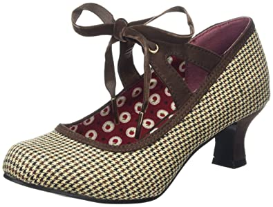 Joe Browns Charming Tweedy Tie Shoes, Escarpins FemmeMarron, 37 EU (4 UK)