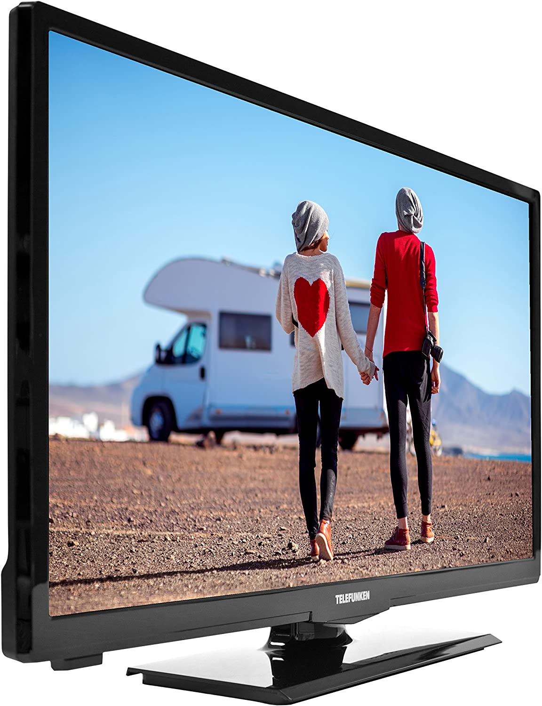 Telefunken 813606 xh24 a 100vd 61 cm (24 Pulgadas) de televisor (HD Ready, sintonizador Triple, Reproductor de DVD, 12 V de Conector: Amazon.es: Electrónica