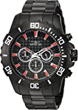 Invicta Men's Pro Diver Analog-Quartz Watch with Two-Tone-Stainless-Steel Strap, Black, 10 (Model: 22549)