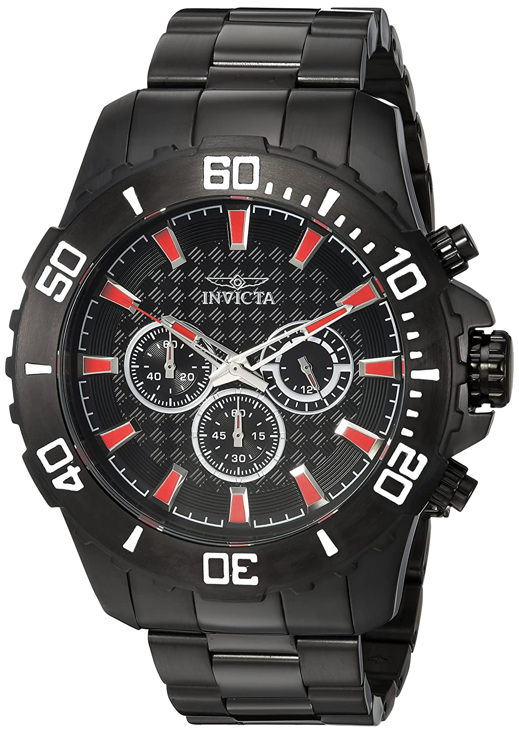 Invicta Men s Pro Diver Analog-Quartz Watch with Two-Tone-Stainless-Steel Strap, Black, 10 Model 22549