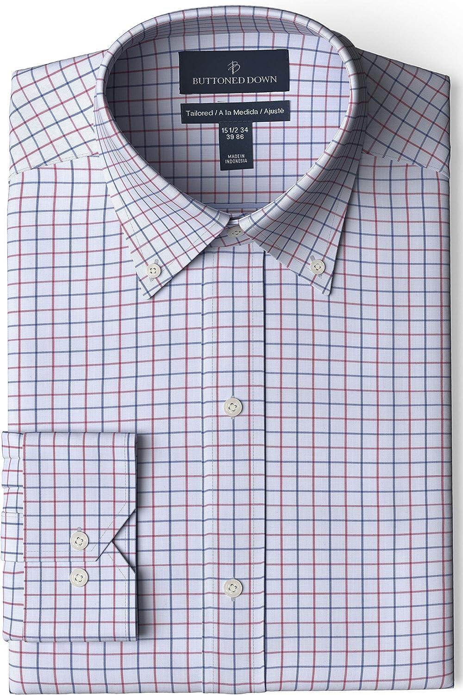 Buttoned Down Nashville-Davidson Mall Men's Tailored Fit Manufacturer OFFicial shop Shi Button Collar Dress Pattern
