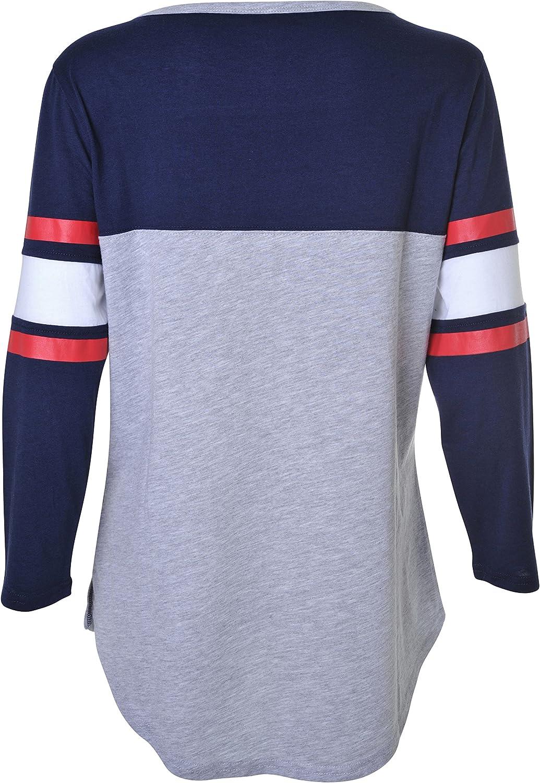 Heather Gray X-Large Ultra Game NBA New Orleans Pelicans Womens T-Shirt Raglan Baseball 3//4 Long Sleeve Tee Shirt