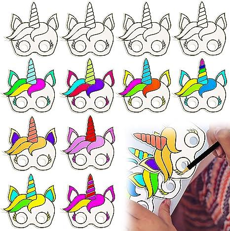 Amazon.com: BeYumi - Máscaras de papel de unicornio para ...