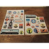 Precut 29 Retro Vintage old fashioned style luggage suitcase travel stickers stick on