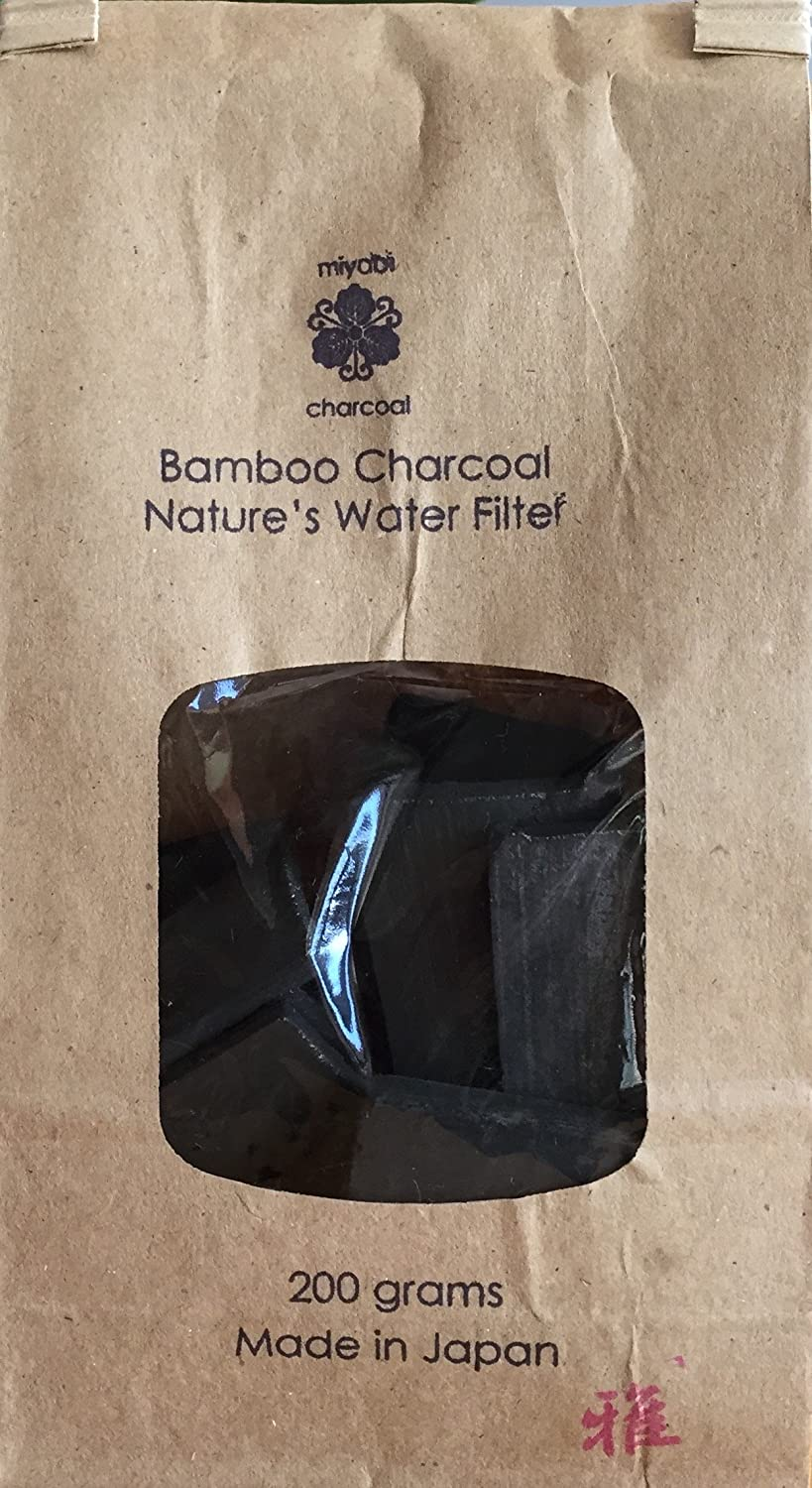 Mirana 6 Sticks Bamboo Charcoal Water Filter Glass /& More Natures Charcoal Filter for Tap Water- All Natural Water Purification Filter for Pitchers Tasty Water