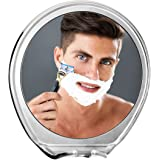 JiBen Fogless Shower Mirror with Power Locking Suction Cup, Built-in Razor Hook and 360 Degree Rotating Adjustable Arm, Personal Fog Free Shaving Mirror (Chrome)