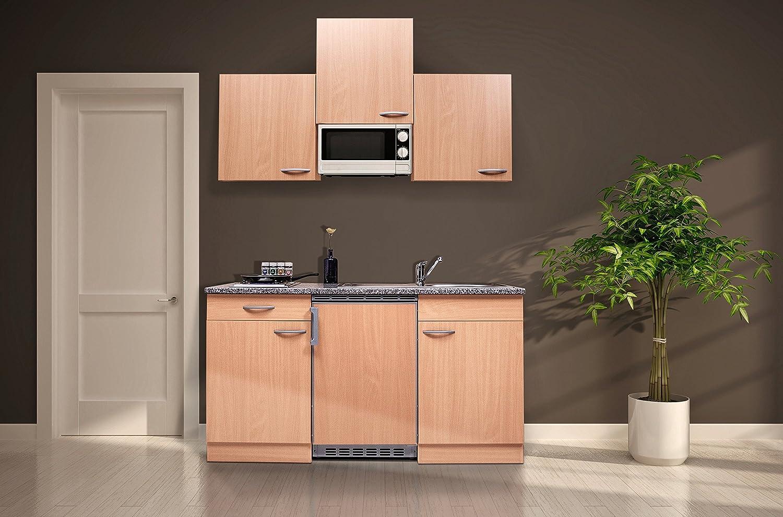 respekta KB150BBMI - Cocina (150 cm, con microondas), color haya: Amazon.es: Hogar