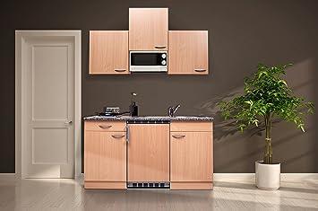 respekta KB150BBMI Single Küche Küchenzeile Küchenblock 150 cm Buche ...