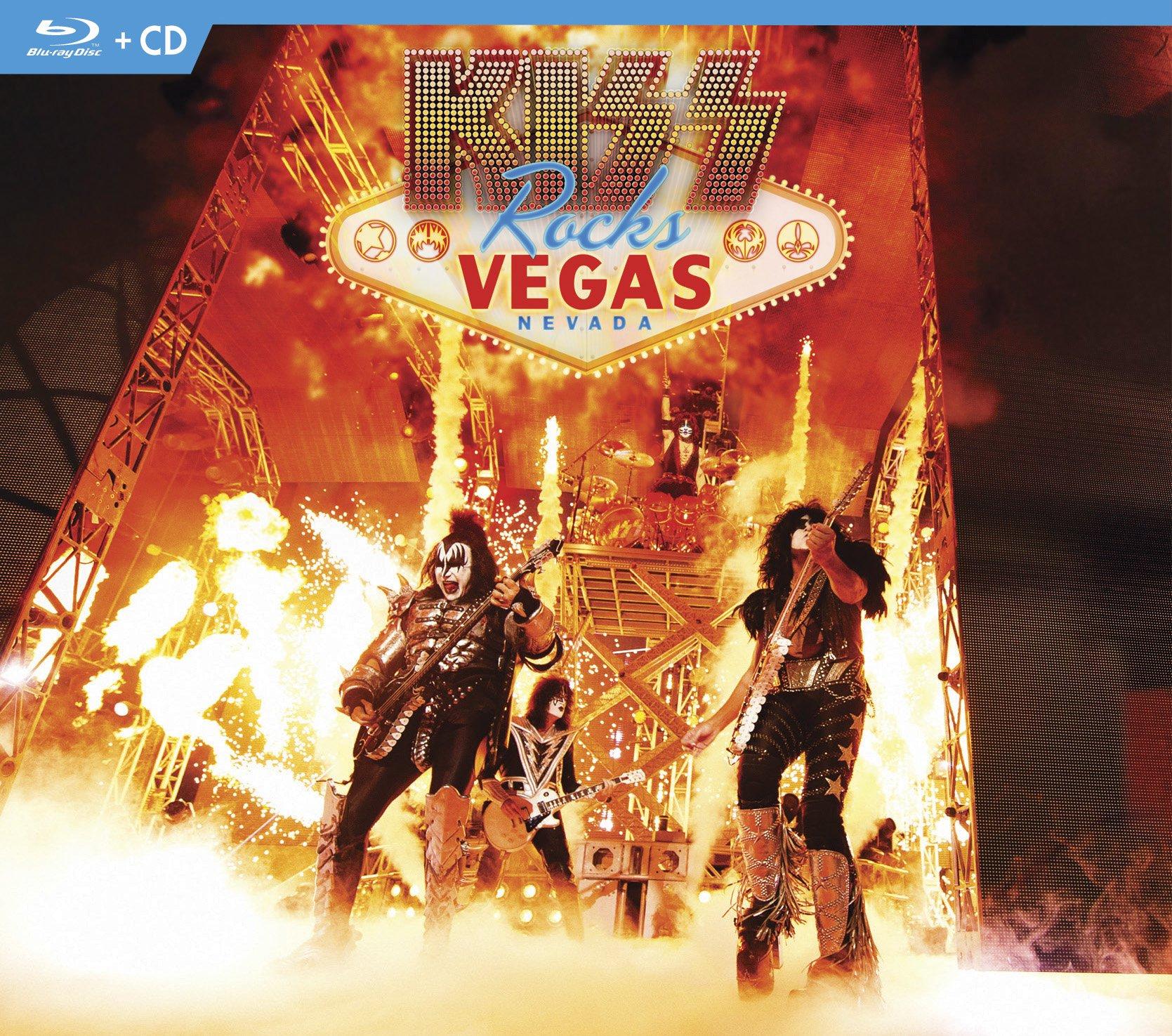 Blu-ray : Kiss - Kiss Rocks Vegas (With CD, 2 Disc)