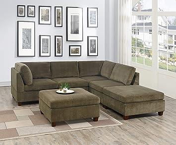 Amazon.com: Esofastore Living Room Furniture Modern Modular ...