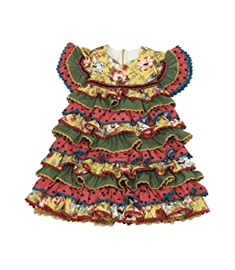 Vestido Traje Flamenca niña bebé (Desde 12 Meses hasta 24 Meses ...