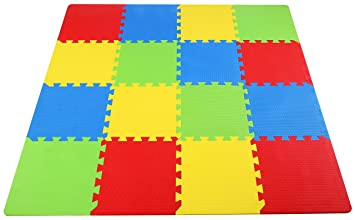 BalanceFrom Kid s Puzzle Exercise Play Mat with High Quality EVA Foam Interlocking Tiles Multi Color