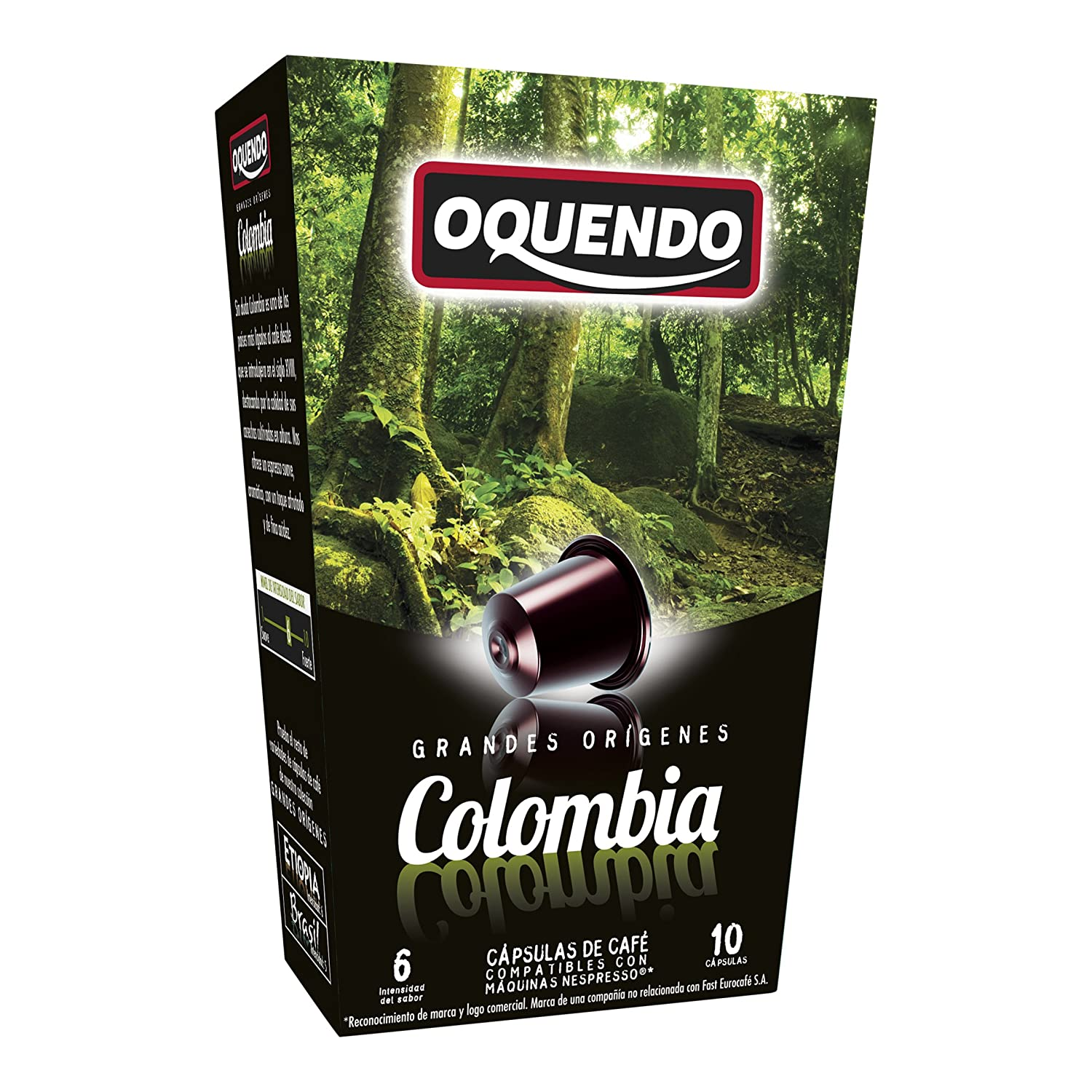 Nespresso Compatible Coffee Capsules - 80 Nespresso Pods -By OQUENDO - 60 Day Satisfaction Guarantee-Oquendo Colombian Nespresso Capsules: Amazon.com: ...