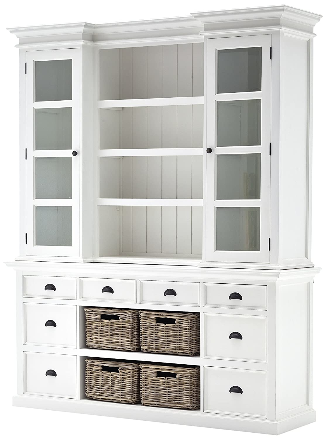 NovaSolo Library Hutch with Basket Set