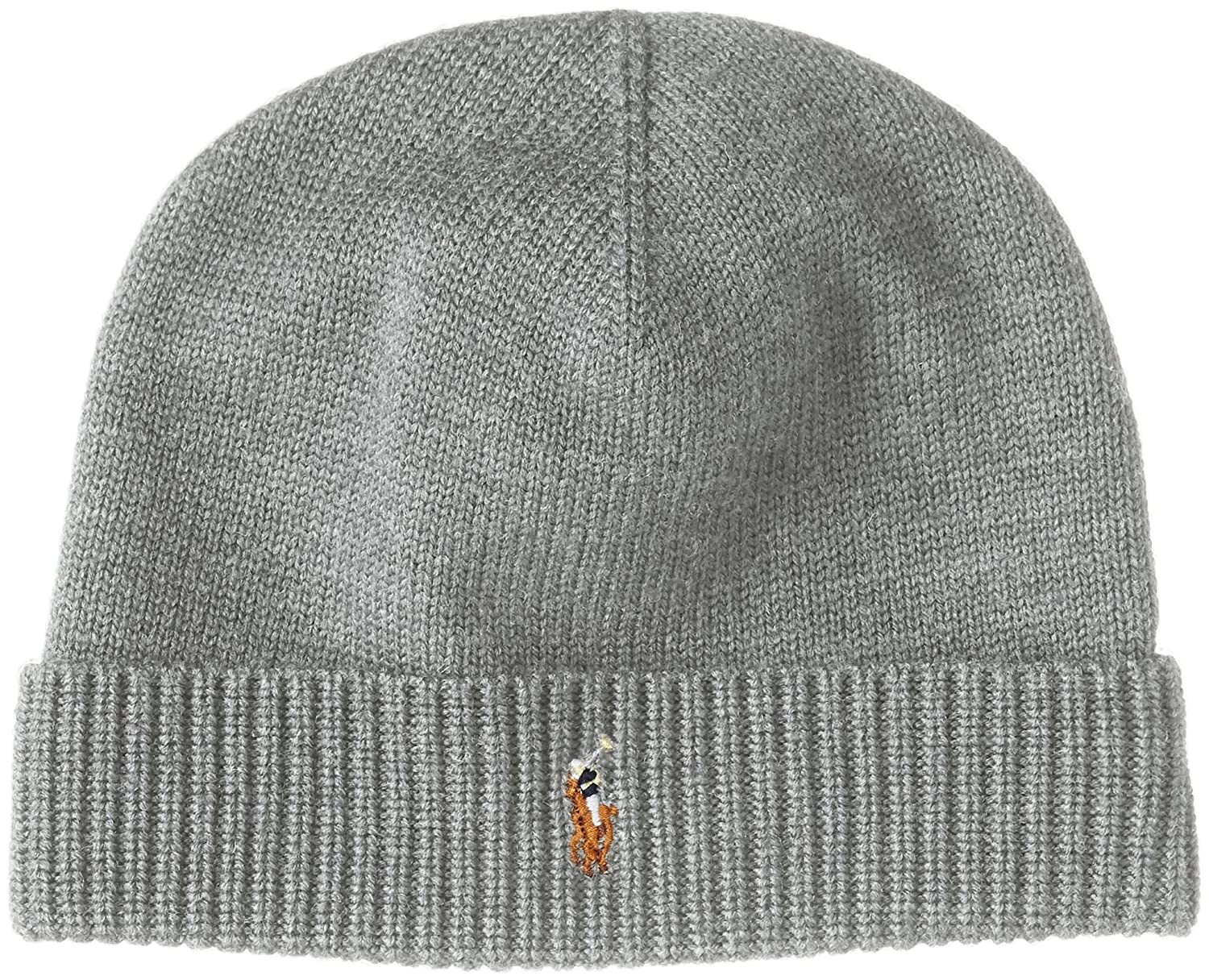 6796c9bdfc4 Polo Ralph Lauren Men s Beanie Watch Cap Merino Wool Grey at Amazon Men s  Clothing store