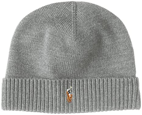 4d97f473 Image Unavailable. Image not available for. Color: Polo Ralph Lauren Men's  Beanie Watch Cap Merino ...