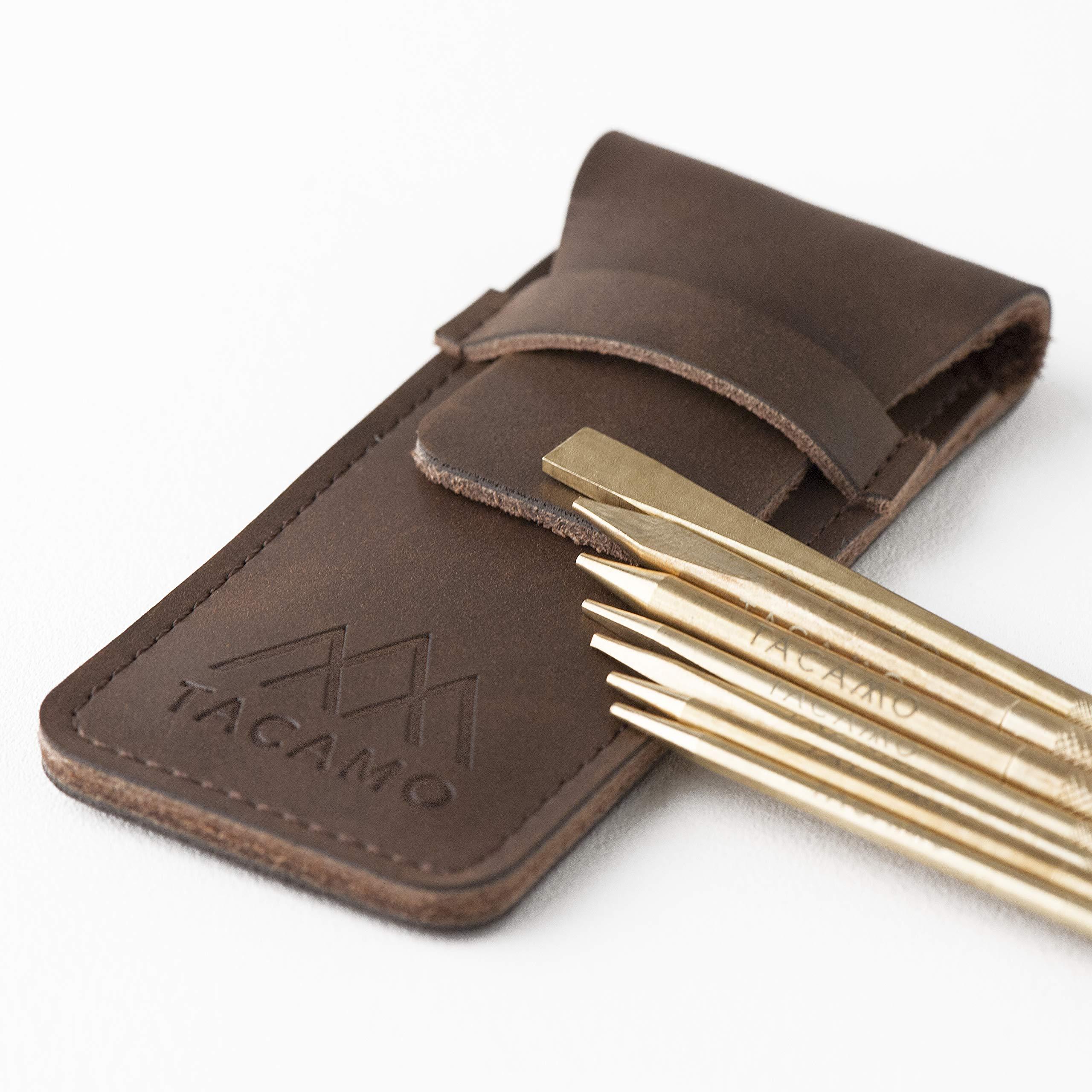 TACAMO 7-Piece Professional Brass Paracord FID Lacing Needle Set