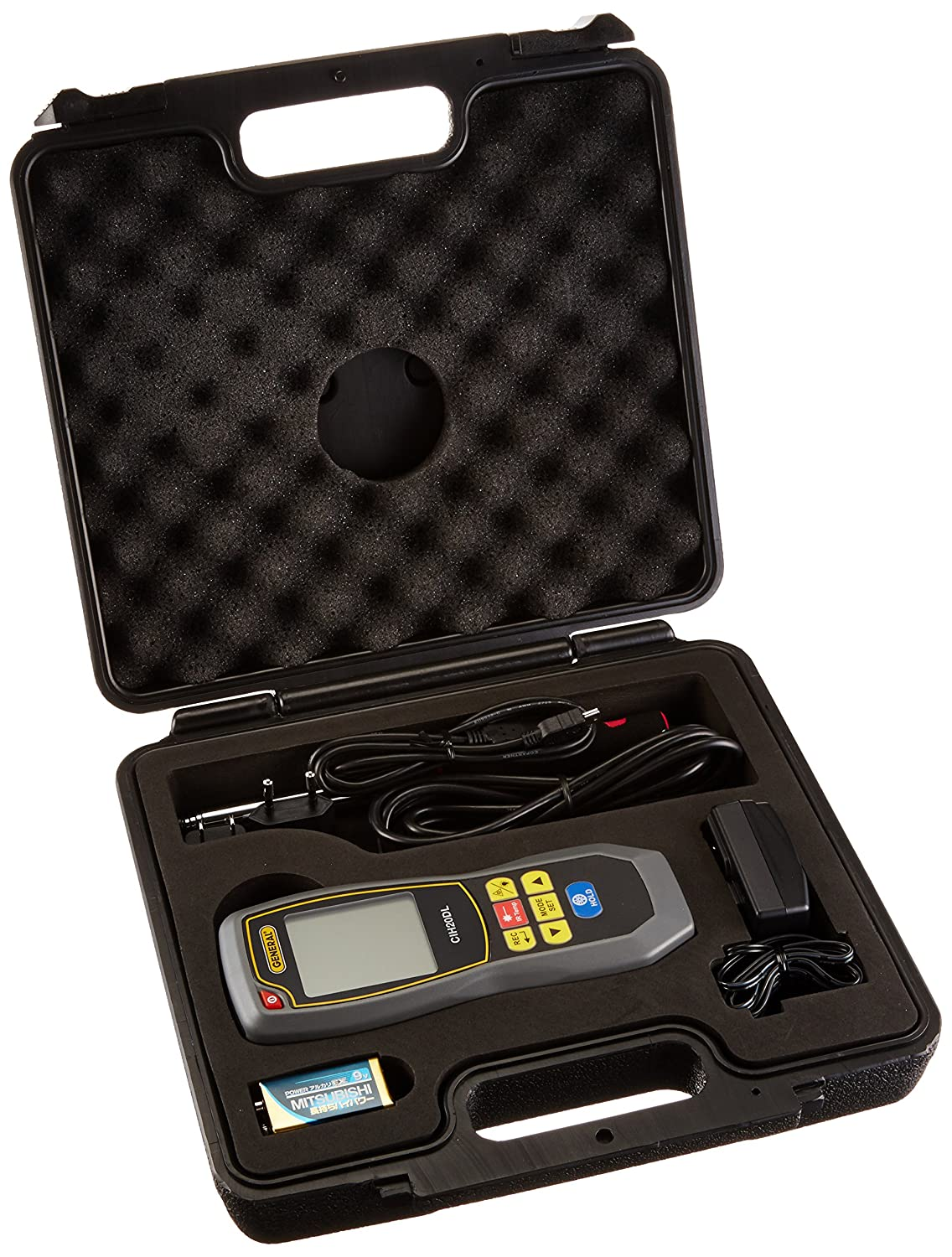 General Tools CIH20DL Hot Wire Data Logging Anemometer with Cfm/Cmm & 8: 1 Irt Thermometer