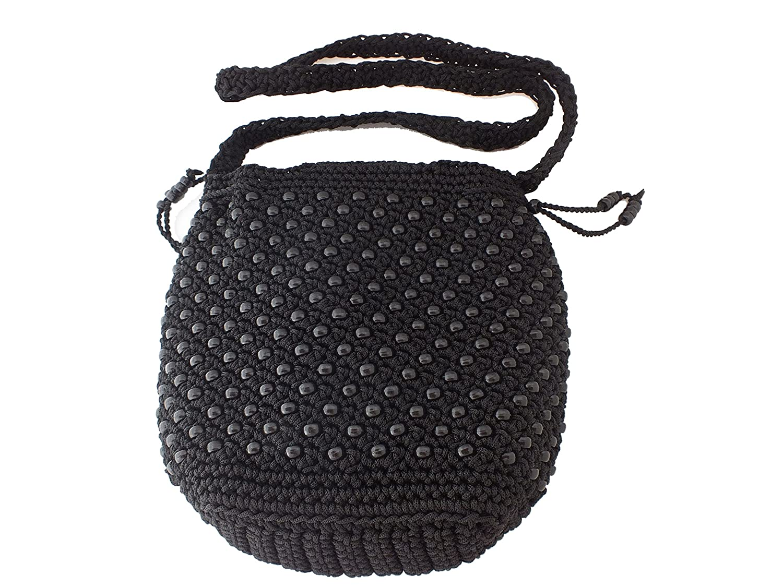 Amazoncom Raaya Fashion Women Handmade Bag Black Midnight Stitch