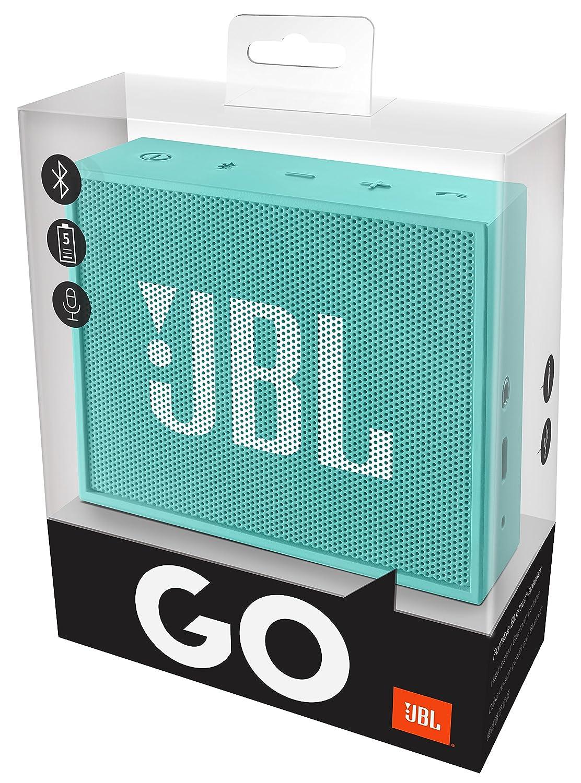 Tablets y Dispositivos MP3 Altavoz port/átil para Smartphones 3 W, Bluetooth, Recargable, AUX, 5 Horas Color Amarillo JBL Go