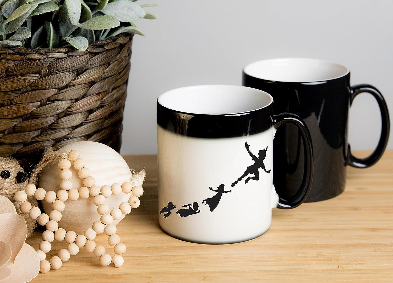 Christmas Great gift for birthdays Peter Pan Magical Colour Changing Mug Anniversary etc. hot chocolate mug tea cup coffee cup hot chocolate cup coffee mug Ideal as tea mug