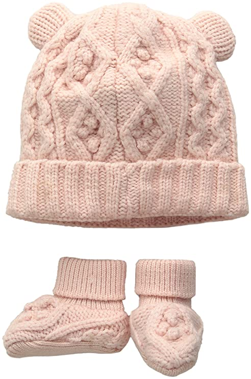 443e73015a6 TOBY   Company Baby Nygb Cable Knit Hat   Booties Set