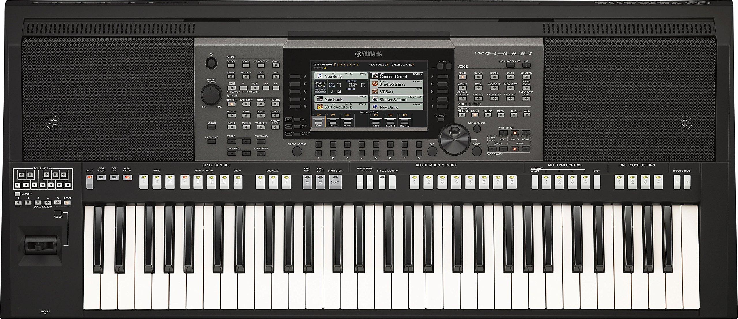 Yamaha PSR-A3000 61-Key World Arranger Workstation by Yamaha PAC