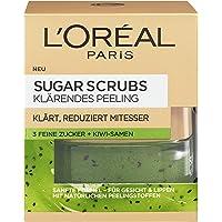 L'Oréal Paris Sugar Scrubs Gezichtsspeeling, zachte peeling met natuurlijke suikerkristallen en kiwi-zaden, vermindert…
