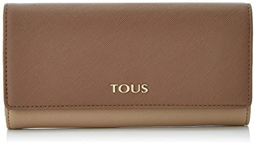 Tous Billetera Mediana Essence, Cartera para Mujer, Multicolor (Topo/Marrón),