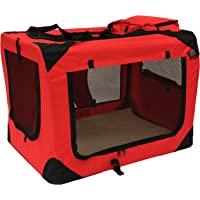 MOOL nbsp;–Caja transportadora de tela ligera para mascotas, Jaula con forro polar y bolsa para alimentos
