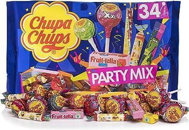 Chupa Chups Party Mix, Golosinas y Caramelos de Sabores Variados, Bolsa de 34 unidades (Total 400 gr.): Amazon.es: Alimentación y bebidas
