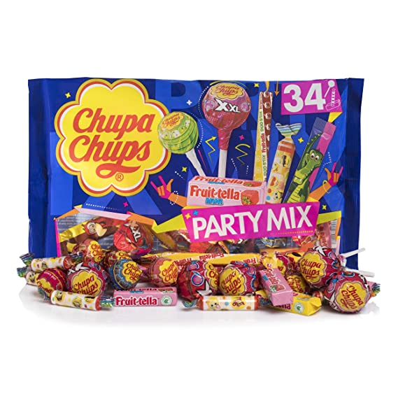 Chupa Chups Party Mix, Golosinas y Caramelos de Sabores Surtidos - Bolsa de 400 gr
