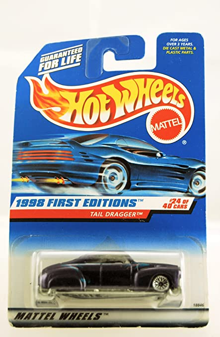 Amazon Com Hot Wheels 1998 First Editions Tail Dragger Purple