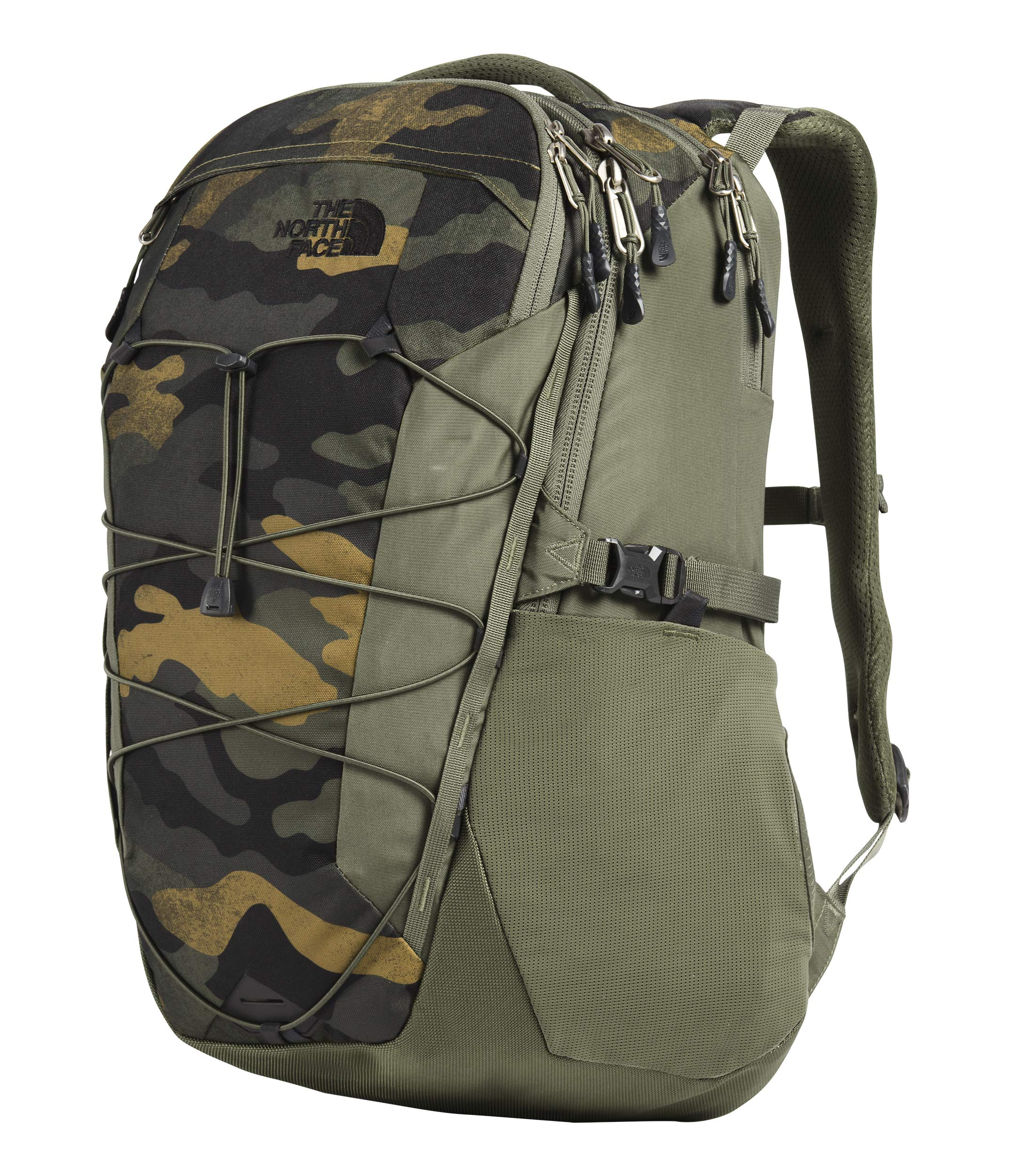 The North Face Borealis, Burnt Olive Green Waxed Camo Print/Burnt Olive Green, OS