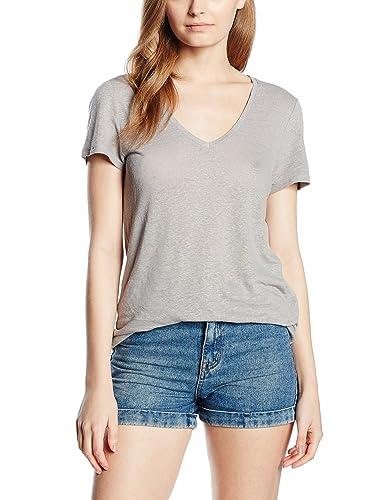 Vero Moda Vmpure SS Linen Top Noos, Camiseta para Mujer