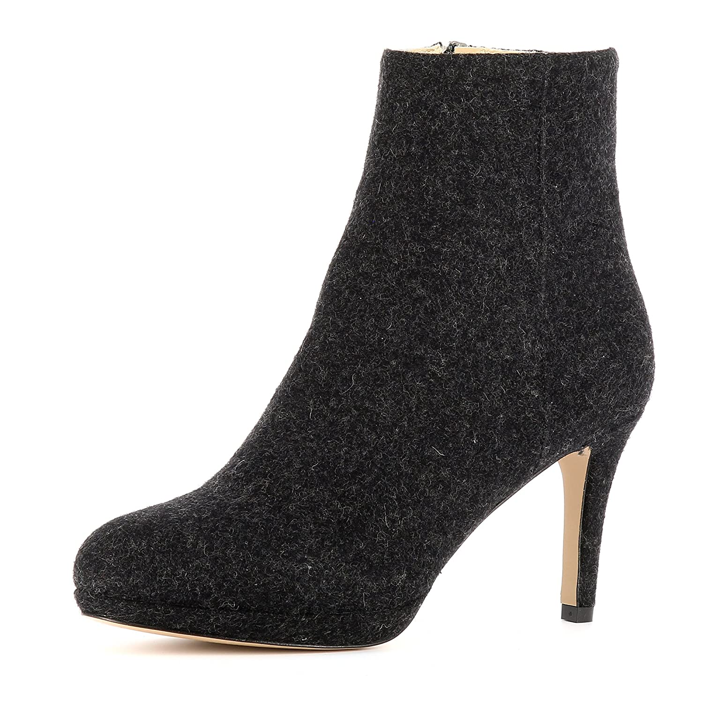 Evita Shoes Bianca Evita Bottines Shoes Femme Feutre Noir Noir 98b4e66 - therethere.space
