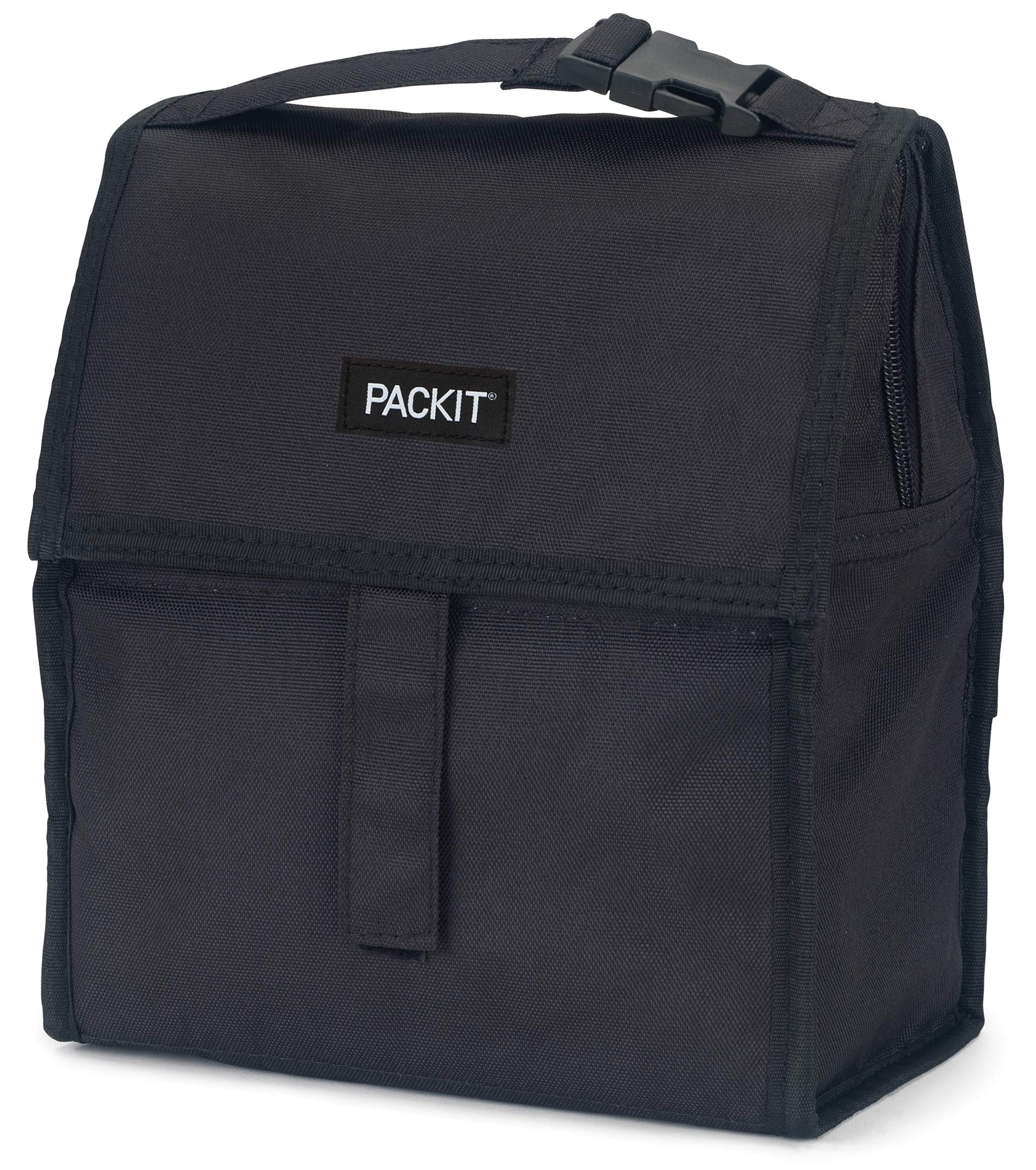 PackIt Freezable Lunch Bag with Zip Closure, Black by PackIt