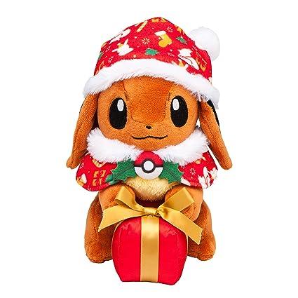 Christmas Eevee.Pokemon Center Original Stuffed Eevee Christmas Gift Box Ver With Pokemon Center Appropriate Tag