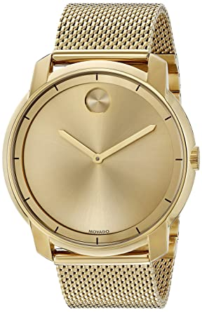 amazon com movado men s swiss quartz tone and gold plated watch movado men s swiss quartz tone and gold plated watch model 3600373