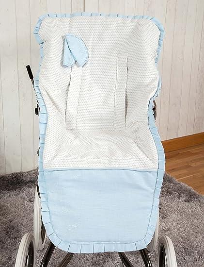 Babyline Destellos - Colchoneta para silla de paseo, color azul