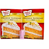 Bundle: Duncan Hines Signature Cake Mix with FREE candles (Orange Supreme)