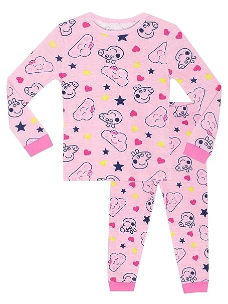 Peppa Pig - Pijama para niñas - Peppa - Ajuste Ceñido - 6 - 7 Años