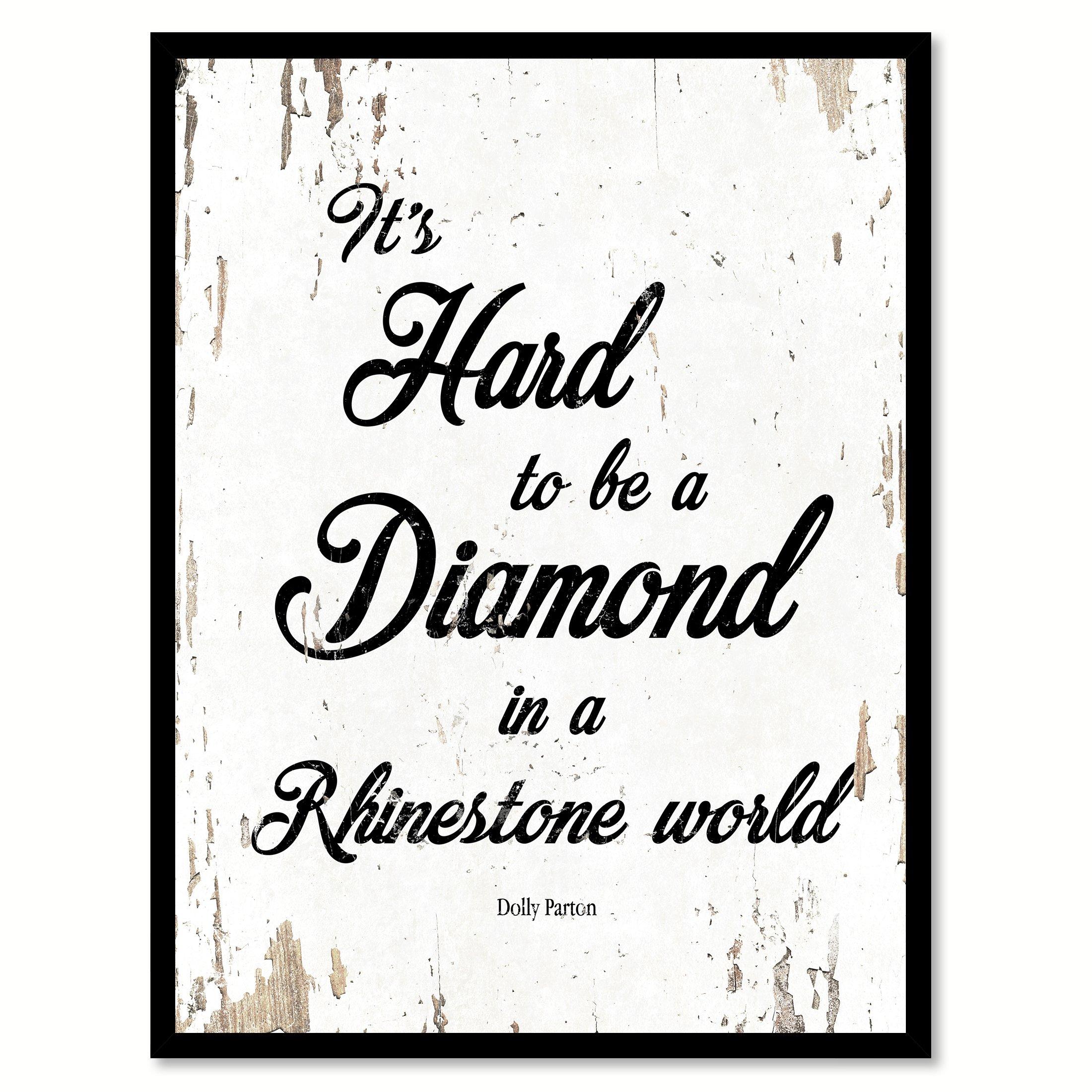 SpotColorArt It's Hard to Be A Diamond in A Rhinestone...