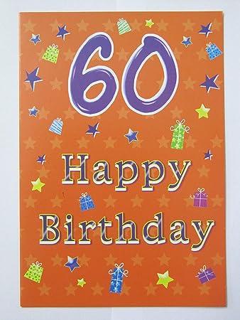 Maravilloso Colorido 60 de cumpleaños 60th Tarjeta de ...